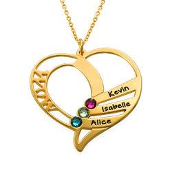 Vergoldete Geburtsstein Halskette für Mütter product photo