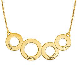 Ringkette für Mama mit Gravur und Vergoldung product photo