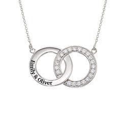 Interlocking Circle Halskette aus Sterlingsilber product photo