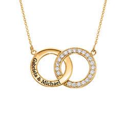 Interlocking Circle Halskette mit 750er Vergoldung product photo