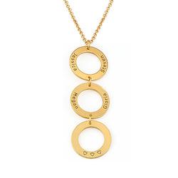 Personalisierte vertikale Gold-beschichtete Kette mit 3 Kreisen und product photo