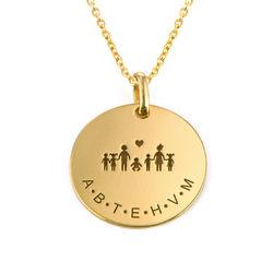 Familien Halskette für Mama in 18 Karat Vergoldung product photo