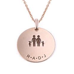 Familien Halskette für Mama in 18 Karat Rosévergoldung product photo