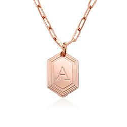 Cupola Glieder-Halskette mit Rosévergoldung product photo