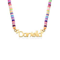 Regenbogenkette aus 750er Vergoldung für Mädchen product photo