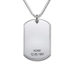 925er Silber Dog Tag Halskette product photo