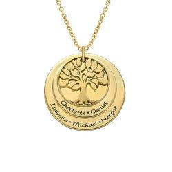 Gestufte Stammbaumkette aus vergoldetem Silber product photo
