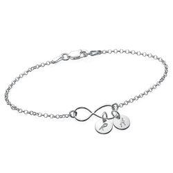 Infinity-Armband mit Gravur/ Fußkette mit Initialen-Charms product photo