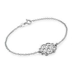 Monogramm Armband / Fußkette mit Initialen aus 925er Silber product photo