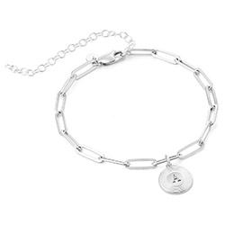 Odeion Initial-Gliederarmband aus Sterlingsilber product photo