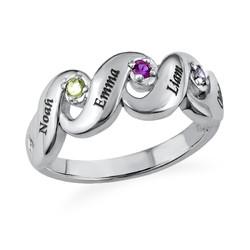 Mütter Ring mit vier Geburtssteinen product photo