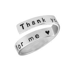 Ring mit Gravur aus Sterlingsilber product photo