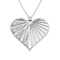 Familienkette mit Diamanten aus Sterlingsilber product photo
