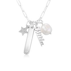 Siena Barrenketten Halskette in Sterlig Silber product photo