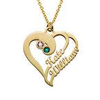 Doppelherz-Halskette -vergoldet