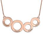 Ringkette mit Gravur und Rosévergoldung