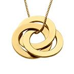 Russische Halskette mit Ring  - vergoldet
