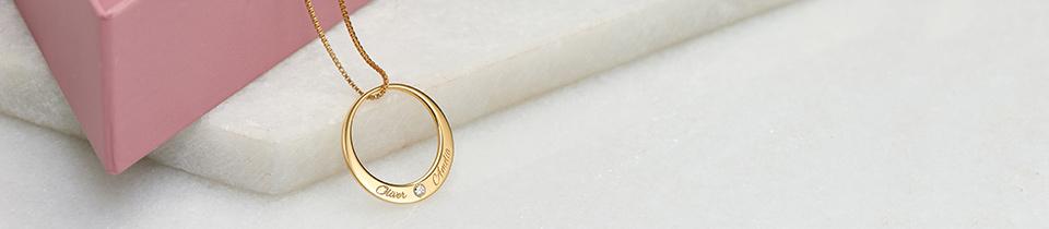 personalisierte kette mit diamant