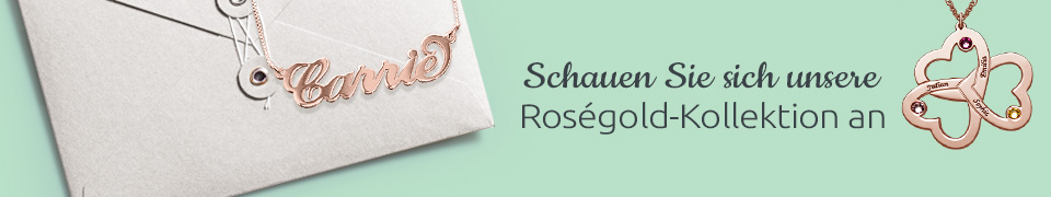 Rosé Gold Schmuck Kollektion