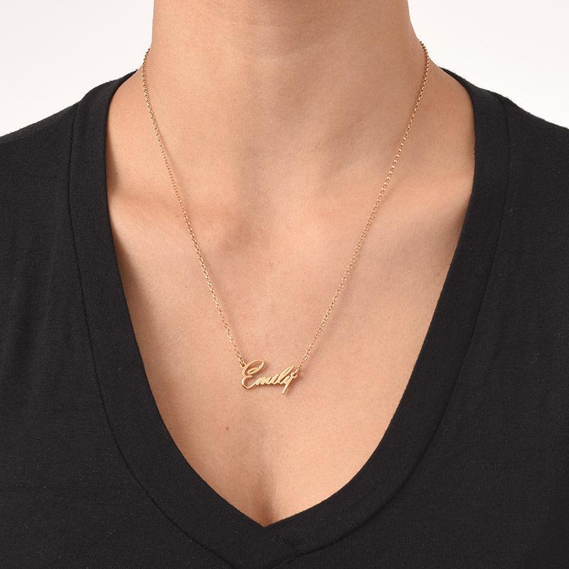Diminuto Collar con Nombre en chapa de Oro de 18K - Extra Fuerte - 2