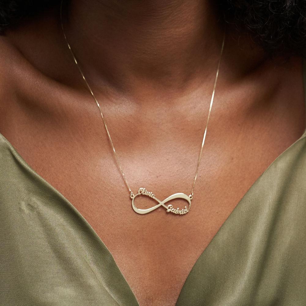 Collar Infinito con Nombre en Oro Amarillo de 14K - 4