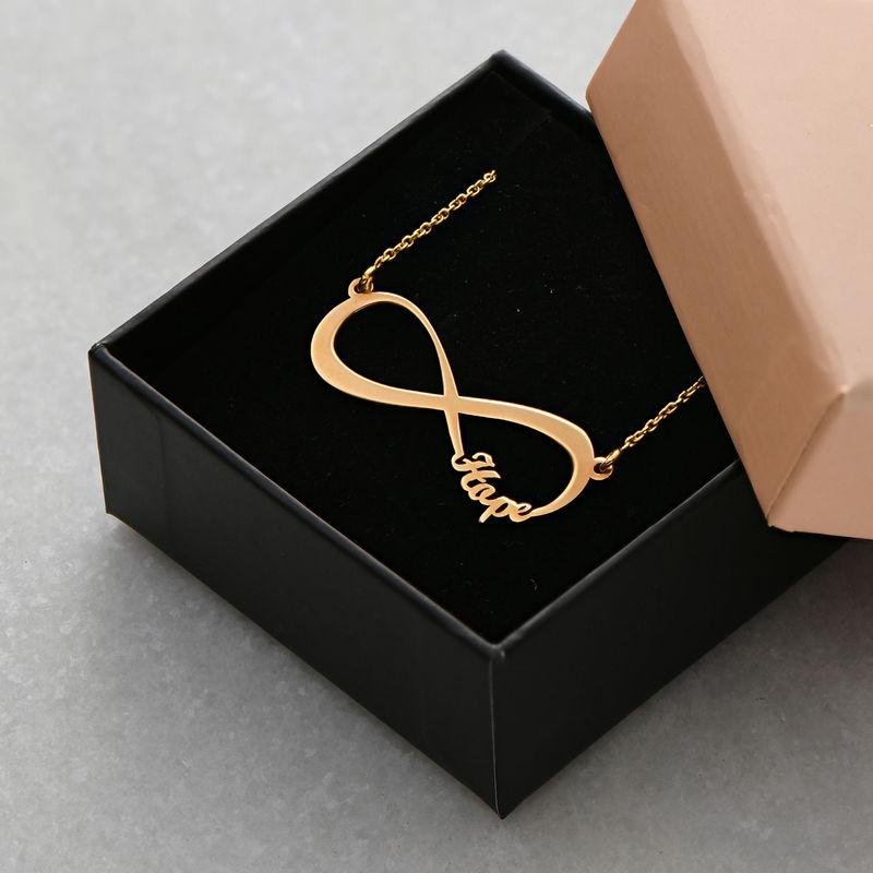 Collar Infinito con Nombre Chapado en Oro 18K - 5