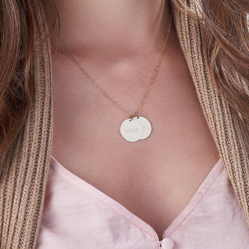 Una joya para Mamá en Oro 14k - Collar personalizado con Discos - 2