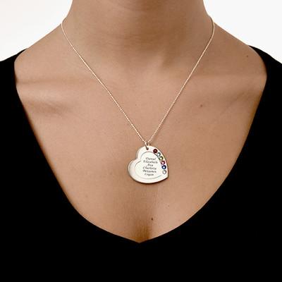 Collar Corazón de la Familia con Piedras - 4