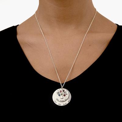 Collar Árbol de la Vida en Círculos con Piedras - 3