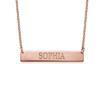 Collar de Barra Grabado en chapa de oro Rosa