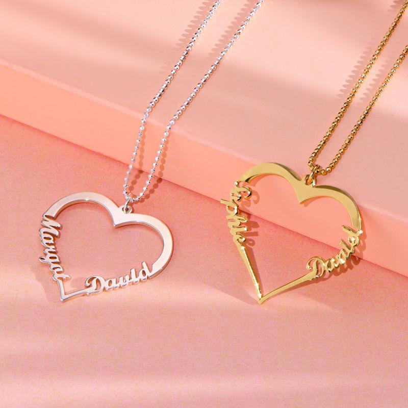 Collar de Corazón con Inscripción Personalizada - 1