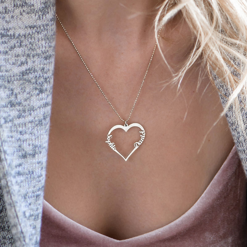 Collar de Corazón con Inscripción Personalizada - 2