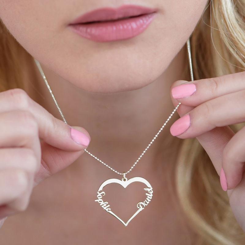Collar de Corazón con Inscripción Personalizada - 3
