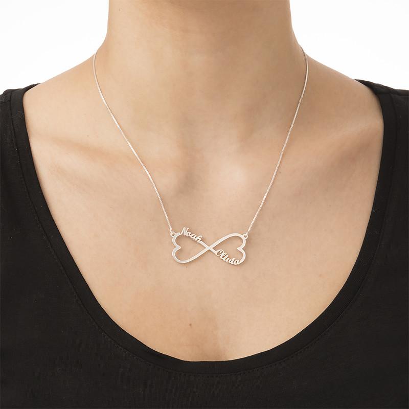 Collar con Nombre de Corazón Infinito - 1