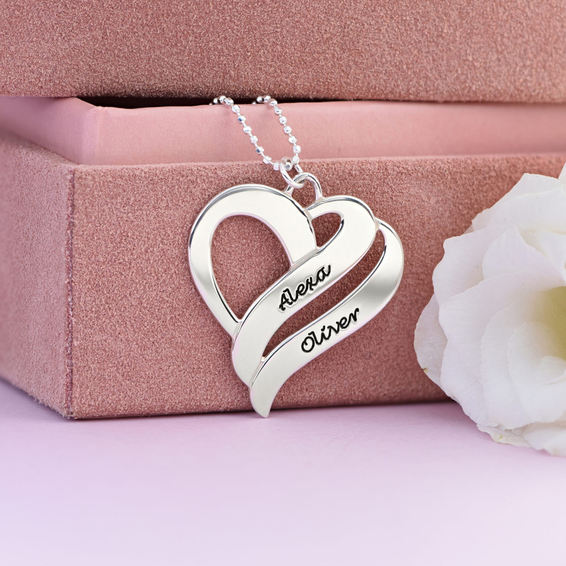 Collar Dos corazones por siempre Uno - 3
