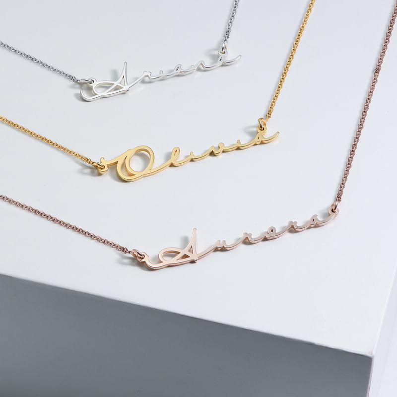 Collar con Nombre en Firma - Chapado en Oro - 2
