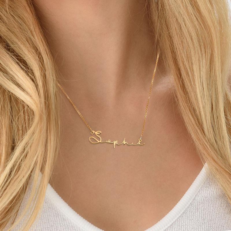 Collar con Nombre en Firma - Chapado en Oro - 4