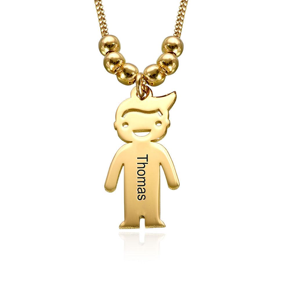 Colgante Niño y Niña Personalizado Chapado en Oro 18K foto de producto