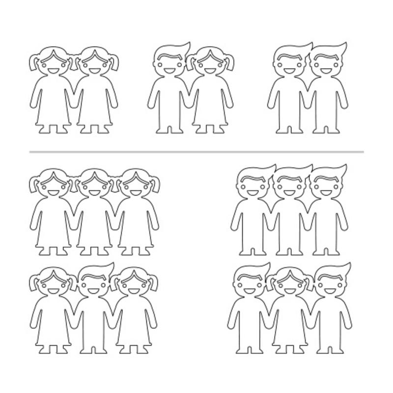 Collar con niños tomados de la mano chapado en oro 18k - 1