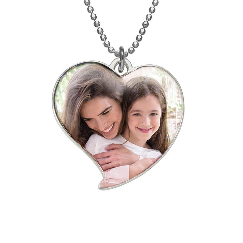 Collar Único en Forma de Corazón con Foto