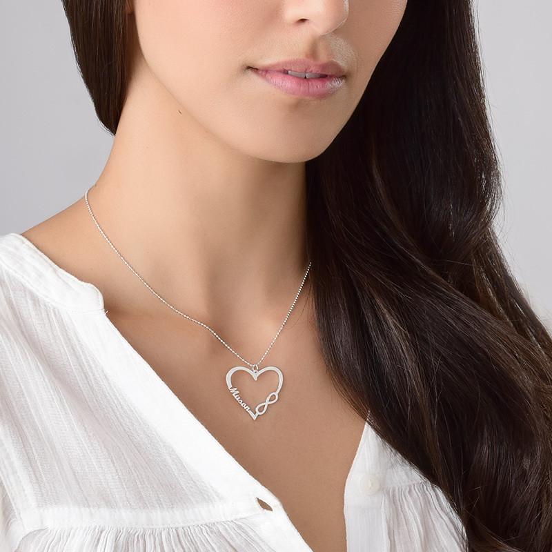 Collar Corazón Infinito Personalizado - 2