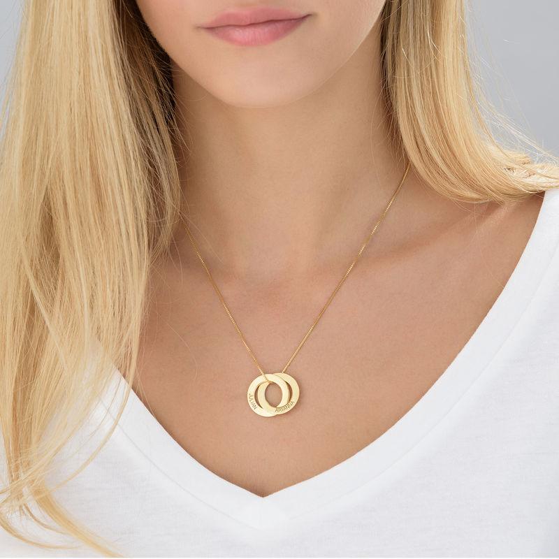 Collar de anillo ruso con dos anillos en Oro Vermeil - 3