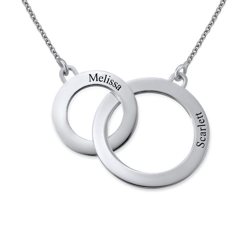 Collar Círculos de Eternidad grabado en plata foto de producto