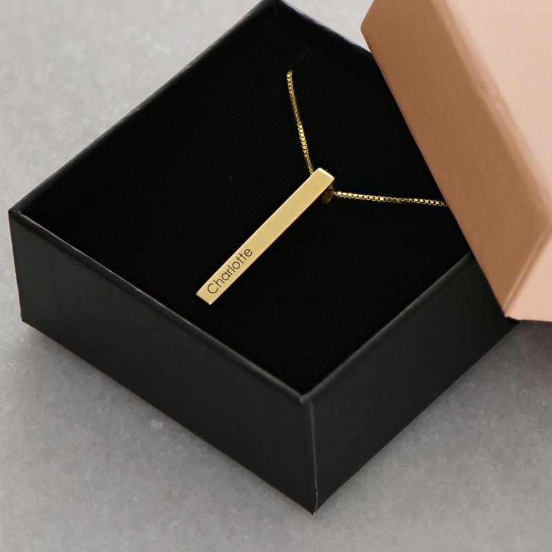 Collar de Barra Grabado 3D Chapado en Oro - 6