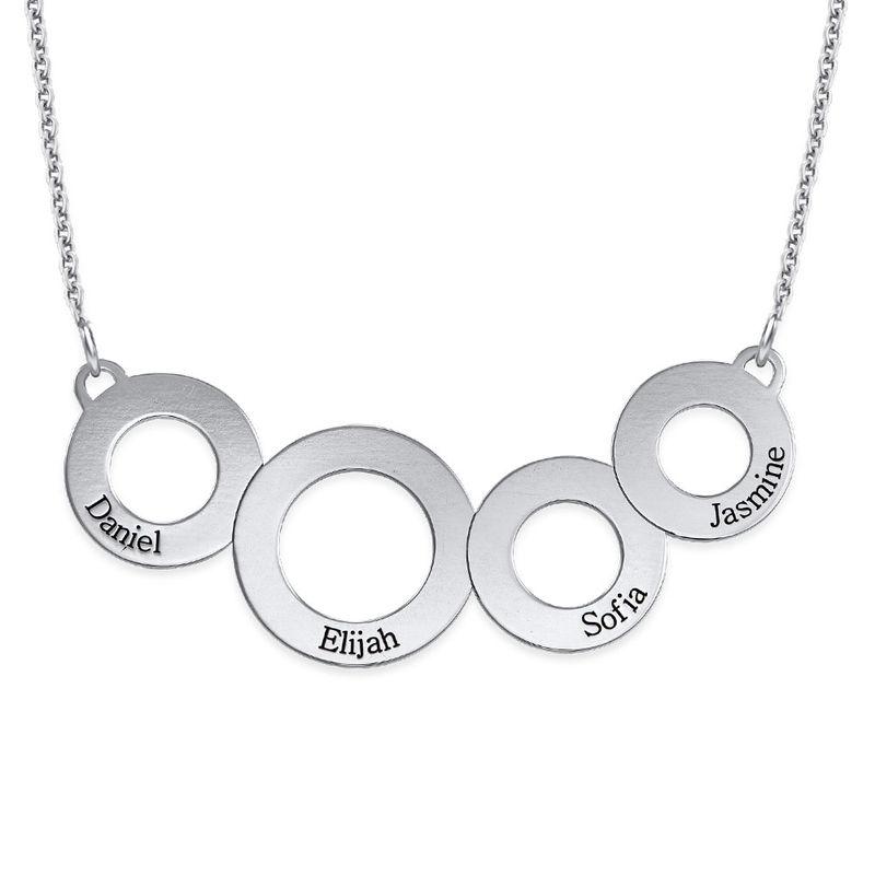 Collar Círculos Grabados en Plata de Ley