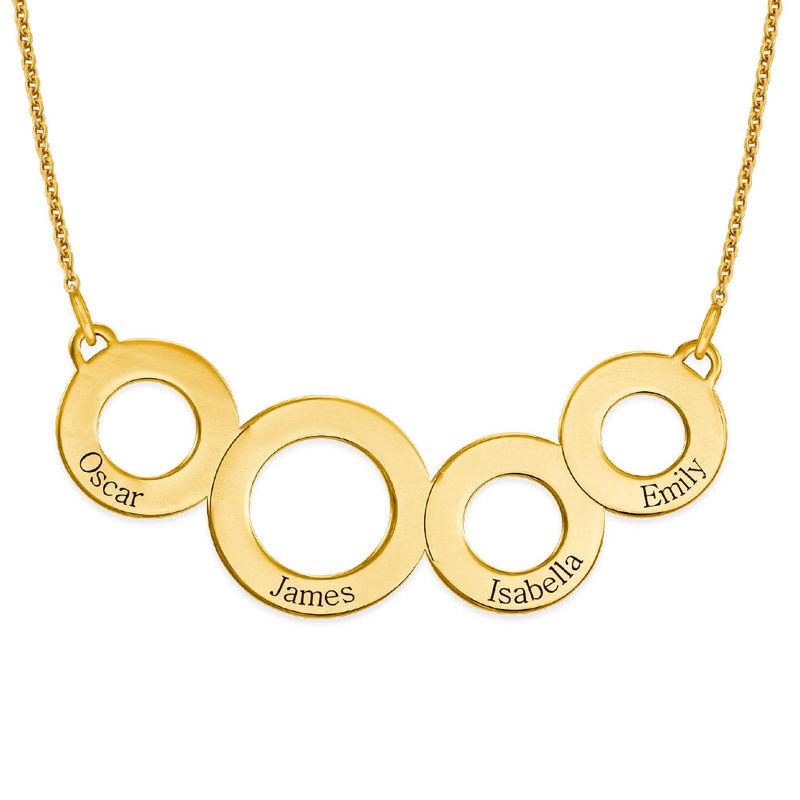 Collar Círculos Grabados Chapado en Oro foto de producto