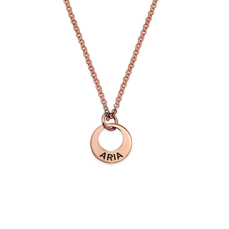 Collar con Disco Mini chapado en oro rosa