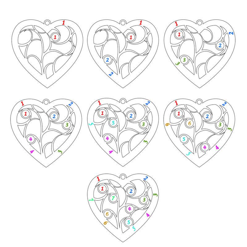 Collar Árbol de la Vida en forma de Corazón con Piedras de Nacimiento Chapado en Oro - 7