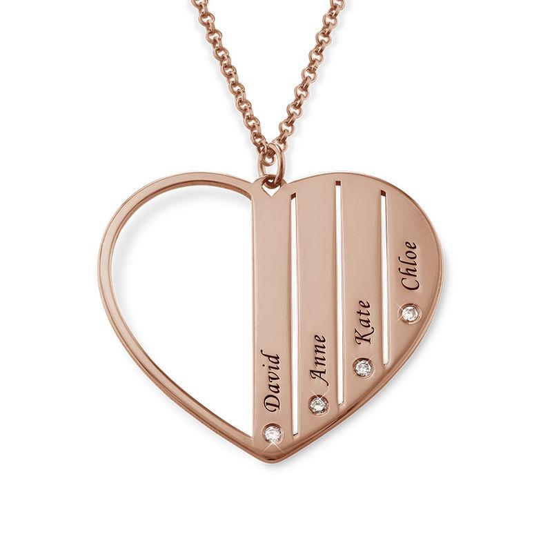 Collar Mamá chapado en oro rosa con diamantes - 1