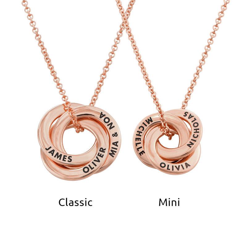 Collar anillo ruso chapado en oro rosa - diseño 3D curvo - 3